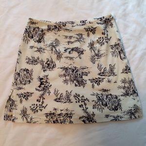 Briggs of New York skirt/shorts navy/off white EUC